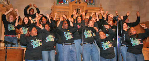 Shades of Praise Interracial Gospel Choir in concert