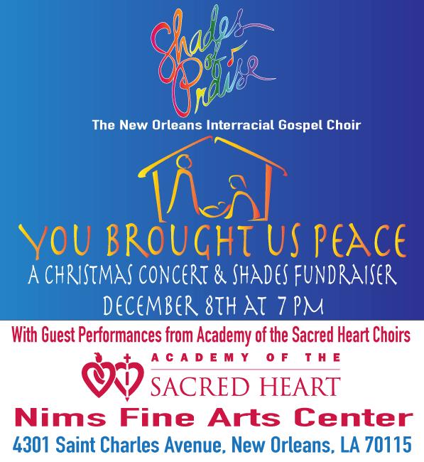 You Brought Us Peace December 8 Concert/Fundraiser Artrwork